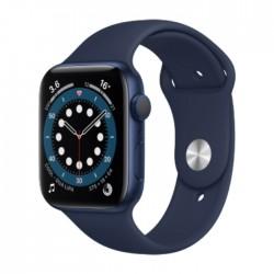 ساعة أبل الجيل السادس جي بي إس الذكية بإطار ألمنيوم وبحجم 44 ملم – أزرق / أزرق داكن