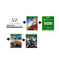 Xbox One S 1TB Console + Forza Horizon 4 + Playerunknown's Battlegrounds + Gears of War 4 + 3 Months Gold Subcription