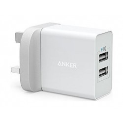 Anker PowerPort 2 Ports Wall Charger - White