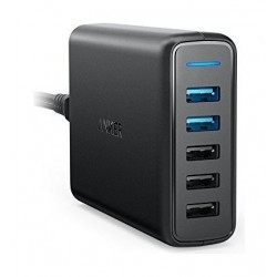 Anker PowerPort 5 Ports Charger - Black