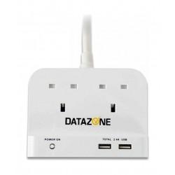 Datazone 2 Socket Power Extension 2M