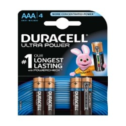 Duracell Ultra Power AAA Battery - 4 Batteries