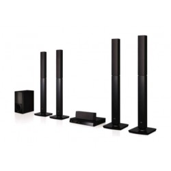 LG 5.1 1000Watts DVD Home Theater System (LHD657)- Black
