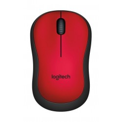 Logitech M220 Silent Wireless Mouse (910-004880) - Red
