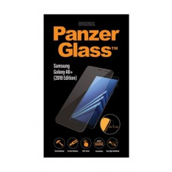 واقي الشاشة الزجاجي الممتاز لسامسونج جالاكسي إيه ٨ - ٢٠١٨ من بانزر (7141)