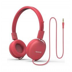 Promate Lightweight Supra-Aural Stereo Wired Headset - Pink 1