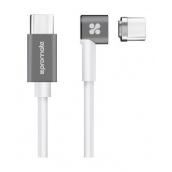 Promate MagLink-C Magnetic USB-C Charge and Sync Cable 2M - White