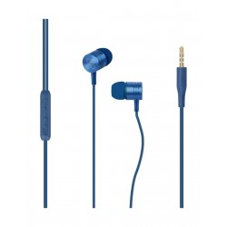 Promate Meta Universal In-Ear Noise Isolation Stereo Earphone - Blue