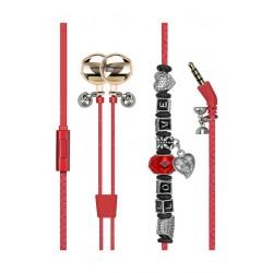 Promate Vogue-3 Wearable Bracelet Earphone - Red
