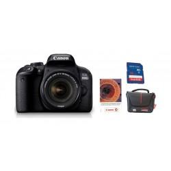 كاميرا كانون الرقمية بعدسة تقريب ١٨-٥٥ ملم ودقة ٢٤,٢ ميجابكسل + بطاقة ذاكرة سانديسك ١٦ جيجابايت + حقيبة الكاميرا + قسيمة تدريب على التصوير الفوتوغرافي من كانون