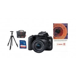 كاميرا كانون الرقمية EOS 250D بعدسة 18-55 DC III + قسيمة تدريب + حقيبة للكاميرا + بطاقة ذاكرة + ترايبود