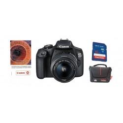 كاميرا كانون الرقمية إي أو إس ٢٠٠٠دي بدقة ٢٤,١ ميجابكسل واي فاي مع عدسة ١٨ - ٥٥ ملم آي إس - آي آي + قسيمة تدريب على التصوير الفوتوغرافي من كانون + بطاقة الذاكرة + حقيبة كاميرا