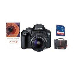 كاميرا كانون الرقمية إي أو إس ٤٠٠٠دي بدقة ١٨ ميجابكسل واي فاي مع عدسة ١٨ - ٥٥ ملم دي سي + قسيمة تدريب على التصوير الفوتوغرافي من كانون + بطاقة الذاكرة + حقيبة كامير