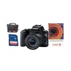 كاميرا كانون الرقمية EOS 250D بعدسة 18-55 + قسيمة تدريب + حقيبة للكاميرا + بطاقة ذاكرة