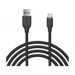 Aukey Braided Nylon 2 Meters USB-C Cable - Black