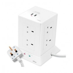 Alfanar 13A Tower Extension Socket (CE083M2U11) - White