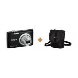 كاميرا كوولبيكس إيه ١٠٠ الرقمية المدمجة من نيكون – ٢٠ ميجابكسل + حقيبة الكاميرا المدمجة ريزو ١٠ من لوبرو