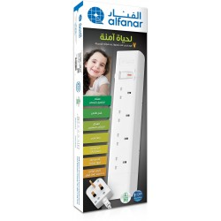 Alfanar 4-Way Surge Protector Power Strip 3M - CE043M0U03