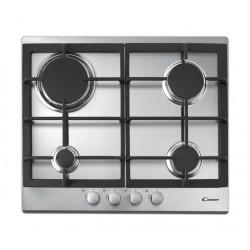 طباخ الغاز السطحي ٤ شعلة بحجم ٦٠ سم من كاندي - ستانلس ستيل (CPG64SGX SASO)