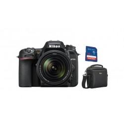 كاميرا نيكون الرقمية دي إس إل - دي ٧٥٠٠ مع بعد بؤري ١٨ - ١٤٠ ملم بدقة ٢٠,٩ ميجابكسل + بطاقة الذاكرة + حقيبة الكاميرا