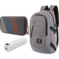 حقيبة ظهر كمبيوتر محمول مكبر صوت لاسلكي بتقنية البلوتوث و بطارية الشحن الخارجية من داتازون