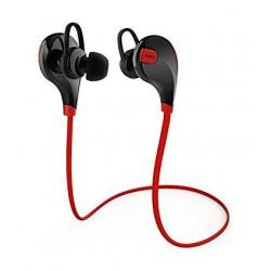 سماعة الأذن الرياضية اللاسلكية أوكي بصوت ستيريو وتقنية اللبلوتوث ٤,١ - أحمر