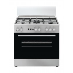 Simfer 80CM 5 Burner Gas Cooker (F8510SGWH) - Stainless Steel