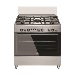 Simfer 90CM 5 Burner Gas Cooker (F9510SGWH) - Stainless Steel