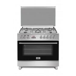 Frego 90X60CM 5 Burner Gas Cooker (FE6060SL) - Silver