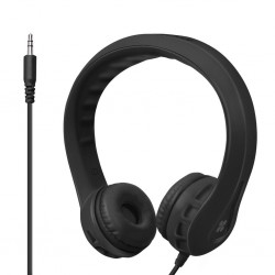 Flexure Super Flexible Wire Headphone For Kids - Black
