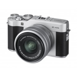 Fujifilm X-A5 Mirrorless Digital Camera + 15-45mm Lens - Silver