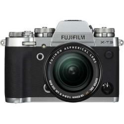 كاميرا فوجي فيلم إكس-تي ٣ الرقمية بدون مرآة مع عدسة ١٨-٥٥ ملم - فضي