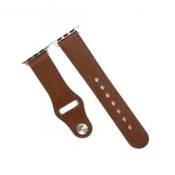 حزام ساعة آبل الجلدى مقاس ٤٢ ملم من بروميت - بني