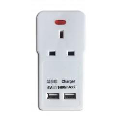 Datazone One Way Power converter with 2 USB Ports - DZ-U7007