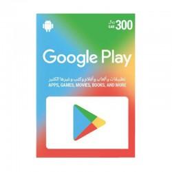بطاقة جوجل بلاي الرقمية  - ٣٠٠ ريال سعودي (حساب سعودي)