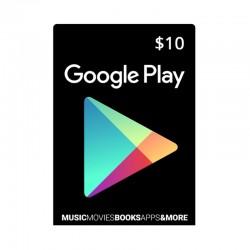 بطاقة جوجل بلاي الرقمية  - ١٠ دولار (حساب أمريكي)