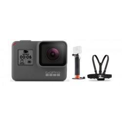 كاميرا جوبرو هيرو ٦ فائقة الوضوح بدقة ٤ كي + حزام الصدر للكاميرا من جو برو + حامل يدوي يطفو على السطح