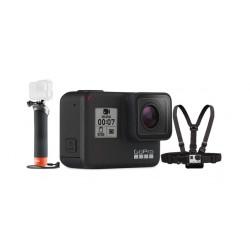 كاميرا جوبرو هيرو 7 + حامل يدوي يطفو على السطح لكاميرات جو برو + حزام الصدر للكاميرا من جو برو
