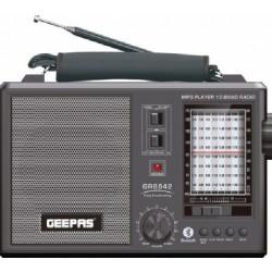 راديو محمول بتقنية البلوتوث وقابل للشحن من جيباس (GR6842)