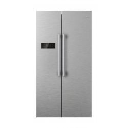 Midea 18 Cubic Feet Sid By Side Refrigerator - Silver