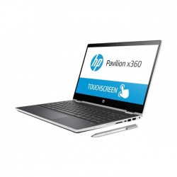 HP Pavilion x360 Intel Pentium 5405U 4GB RAM 128GB SSD 14-inch Touch Screen Convertible Laptop - Natural Silver