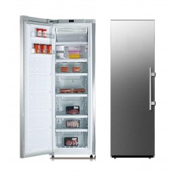 Midea 9 CFt Top Mount Refrigerator (HS338FWEDS) - Silver