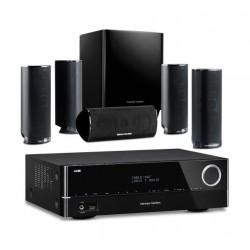 مستقبل الصوت والفيديو الشبكي إى / في توزيع ٥.١ من هارمان كاردون - ٣٧٥ واط (AVR 151) + نظام مكبرات صوت المسرح المنزلي توزيع ٥.١ قناة من هارمان كاردون -١٢٠ واط (HKTS16BQ)