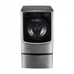 LG 21/12 KG Twin Front Loading Washer/Dryer - Silver (WST2112XMN) + LG TWIN Wash Mini Washer 3.5 KG (WTT03TLXMN) - Silver
