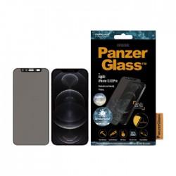 واقي الشاشة لايفون 12 بحجم 6.1 بوصة كام سلايدر من بانزر جلاس - أسود