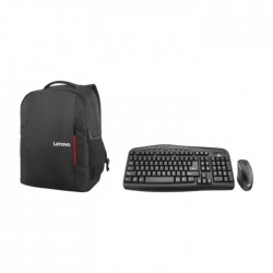 """EQ Keyboard and Mouse Combo + Lenovo B515 15.6"""" Everyday Laptop Backpack - Black"""