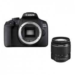 كاميرا كانون الرقمية إي أو إس ٢٠٠٠دي بدقة ٢٤,١ ميجابكسل واي فاي مع عدسة ١٨ - ٥٥ ملم
