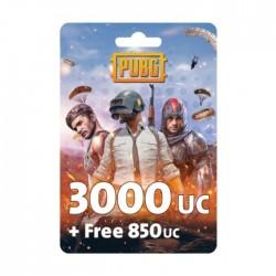 نقاط لعبة ببجي بقيمة (3000 + مجاني 850 UC)