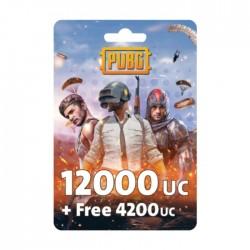 نقاط لعبة ببجي بقيمة (12000 + مجاني 4200 UC)