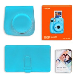 Fujifilm Instax Mini 11 Instant Film Camera Gift Box Blue in KSA | Buy Online – Xcite